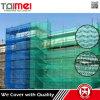 Red afilada apretada de la cortina de los escombros del andamio de la construcción para la protección