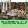 Insieme classico del sofà del cuoio del salone della mobilia di legno di lusso