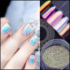 Unicorn Aurora chromé Shell Pearl Mermaid Pigment d'ongles en acrylique