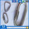 Edelstahl-langer Typ birnenförmiger schneller Link-Ring