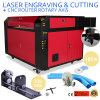 CO2 100W Laser-Stichengraver-Maschine mit Drehmittellinie
