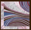 Abstract Pattern Squrae Foulard en Soie Pure
