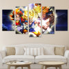Modern Home Wall Art Decoration Frame Modular Picture 5 Parts Animates Dragon Ball Inheritance HD Print Painting Canvas for Living Room