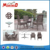 . 4 Chairs를 가진 브라운 Synthetic Rattan Modern Dining Table
