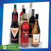 Acrílico transparente apilable moderno independiente del organizador de la botella de 9 estante de vino de pantalla