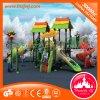 Campo de jogos ao ar livre plástico das crianças para escalar