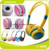 Auscultadores colorido do Headband das crianças do custo relativo à promoção amarelo