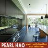 Tipo linear gabinete da melamina preta de cozinha