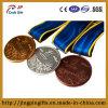 2D Zink-Legierungs-Metallandenken-Preis-Sport-Medaille mit Farbband