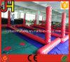 Corte de voleibol inflável do jogo da água, rede do voleibol para a venda