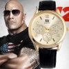 Reloj de lujo de la correa de cuero de la marca de fábrica de 2016 nuevo relojes de manera para el reloj de los militares del análogo de cuarzo de los hombres, reloj del deporte