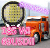 9inch 185W 24V 12V LED Spot Lights Arb Style Soem-ODM 9 Inch 185W Round LED Driving Light