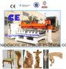 Máquina de madeira do ofício de 5 cabeças do CNC da linha central multi