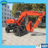 Petit matériel de construction de l'excavateur Pelles sur pneus de marque chinoise