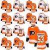 2018 Nova Marca homens Lady Kid Philadelphia Flyers 53 Shayne Gostisbehere 28 Claude Giroux 11 Travis Konecny 17 Wayne Provorov Simmonds 9 Camisolas de hóquei personalizada