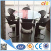 6PCS fragile Rattan Dining Round Table e Chairs