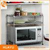 3つの層のクロムまたは粉上塗を施してあるワイヤー棚付けの台所製品の電子レンジラック