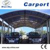 O alumínio telheiro para 2 carro com teto de folha de policarbonato (B800)