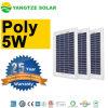 보장 작은 25 년 6V 12V 5W 5개 와트 태양 전지판