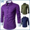 Verkaufs-preiswerte Baumwolleinzelne Farben-Bluse für Männer