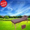Mesa de massagem portátil de madeira de luxo com encosto traseiro ajustável