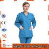 o pessoal hospitalar da V-Garganta 65%Cotton e 35%Polyester esfrega uniformes com Curto-Luva