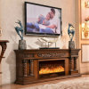 Der Hotel-Möbel Fernsehapparat-Standplatz, der europäische LED schnitzt, beleuchtet erhitzenFirepalce (320SS)