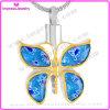 Forma da borboleta com cristais Colar Memorial Cremação Jóias Pingente 316L Aço Inoxidável