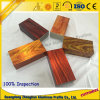 Cristal de alta calidad perfil de aluminio electroforético de grano de madera