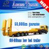 80t de Lowbed/bas de paquet de chargeur de cargaison remorques inférieures hydrauliques de camion semi