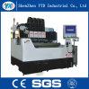 Máquina de gravura de vidro do CNC do servo motor com 4 eixos