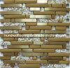 Franja de vidrio de oro de mosaico, mosaico de metal mezclado para el mosaico de Backsplash de cocina (SM237)