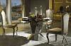 Tableau dinant de marbre rond de luxe de présidence pour le restaurant dinant des meubles