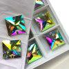 Vierkant 16mm die 22mm vlak AchterBergkristallen naaien naait op Stenen die de Parels van de Bergkristallen van het Deeg van het Kristal (sW-Vierkant) kleden