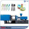 Plastikhaushalts-Messer-Löffel-Gabel, die Zeile Maschine bildet