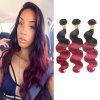 Объемная волна 18inches человеческих волос дешевого цвета Ombre цены перуанская