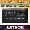 Toyota Corolla Fortuner EstimaのArius 2017年のためのWitson Windowsのタッチ画面車DVD