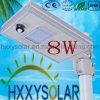 Modèle de propriété industrielle tout dans un éclairage LED solaire 8W de rue