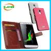 Tirón de la carpeta con las tarjetas de cuero del caso Ranura para Coolpad Note3