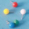 착색된 플라스틱 공 헤드 강요 Pin 문구용품 (QX-BP001) 8*18mm