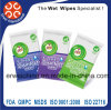 Álcool descartáveis livre todos os panos de limpeza antibacteriano natural com a ISO