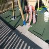 La sicurezza ha colorato le mattonelle di pavimento di gomma in rifornimenti del giardino/mattonelle di gomma quadrate