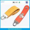 선전용 선물에 의하여 주문을 받아서 만들어지는 로고 가죽 기억 장치 USB 섬광 (EL514)