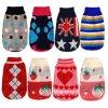 Pullover couleurs d'impression bon marché Pet chien d'hiver de vêtements de tricot
