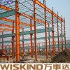Estrutura pré-fabricada clara do frame de aço de China