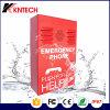 IP Manos Libres Teléfono Intercomunicador de Emergencia Teléfono Teléfono Knzd-38 a Prueba de Explosión Color Rojo