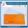 Carte en plastique de cadeau d'adhésion de PVC avec le panneau de signature libre