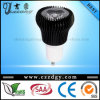 3X3w se refroidissent/lumières noirs blancs chauds du champignon GU10 LED