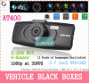 черный ящик At400 Car Camera 2.7 Inch Screen 148 Wide Angle Car DVR/Recorder 11 Languages 1080P G-Sensor Vehicle