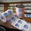 A flor imprimiu o tecido de banheiro dos Valentim do rolo do papel higiénico
